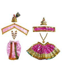 Shringar for 9 Inches Radha Krishna Idols