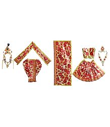Buy Shringar for 8 Inches Radha Krishna Idols
