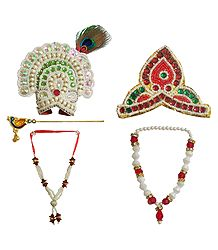 Buy Online 10 to 12 inches Radha Krishna Shringar