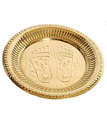 Plate with Charan Imprint - Brass Sculpture