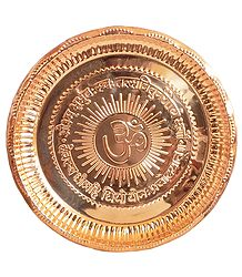 Copper Puja Thali
