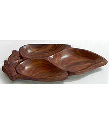 Wood Carved Ritual Tray