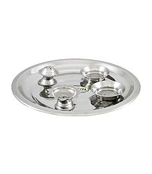 Buy Stainless Steel Thali with Ritual Accessories
