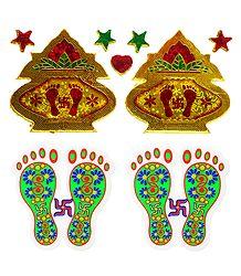 2 Pairs of Kalash and Charan Sticker