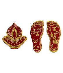 Charan and Diya Glitter Sticker - Set of 2