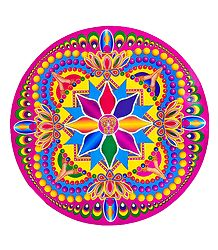 Buy Colorful Design on Sticker Rangoli