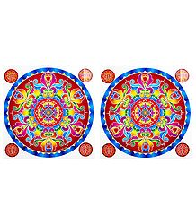 Pair of Rangoli Stickers