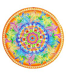 Glazed Paper Sticker Rangoli