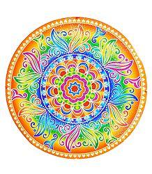 Colorful Sticker Rangoli
