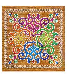 Colorful Sticker Rangoli - Buy Online
