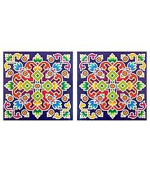 Square Sticker Rangoli
