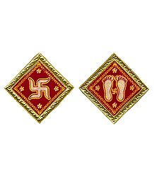 Shop Online Charan & Swastik Velvet Paper Sticker
