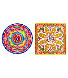 Set of 2 Paper Sticker Rangoli
