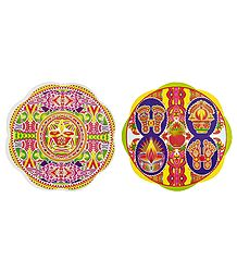 Set of 2 Multicolor Rangoli Stickers