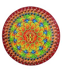 Paisley Print on Sticker Rangoli