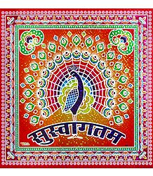 Square Sticker Rangoli