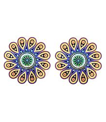 Pair of Sticker Rangoli Print