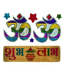 Om and Shubh Labh Sticker