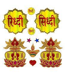 Riddhi Siddhi and Charan on Kalash Sticker