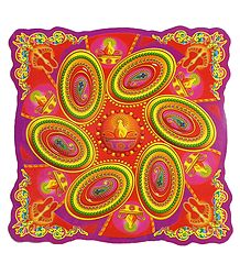 Colorful Paisley Print on Paper Sticker