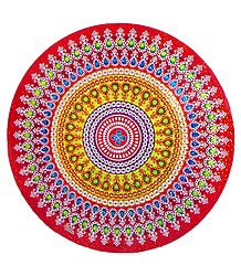 Colorful Sticker Rangoli Print on Glazed Paper