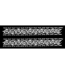 White Alpana on Transparent Sticker Sheet
