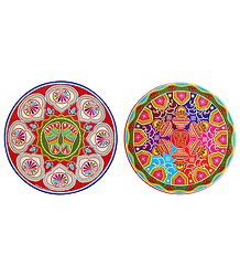 Set of 2 Charan and Kalash Paper Sticker
