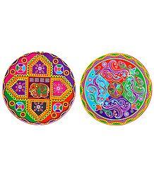 Multicolor Paper Sticker Rangoli - Buy Online