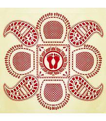Rangoli Paper Sticker with Paisley Print