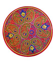 Multicolor Round Metallic Paper Sticker Rangoli