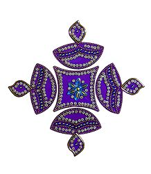 Purple Acrylic Sticker Rangoli