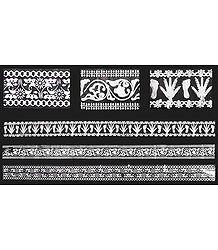 Set of 3 Sticker Charan Prints on Transparent Sheet