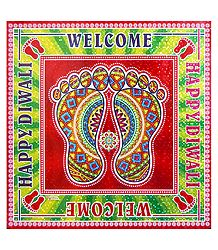 Shop Online Welcome Print Sticker Rangoli