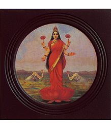 Goddess Lakshmi - Framed Picture