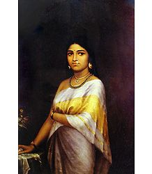Buy Kerala Royal Lady - Ravi Varma Painting