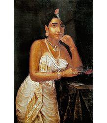 Saree Clad Woman from Medieval Malabar