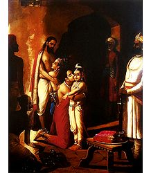 Krishna Liberating His Parents - Poster