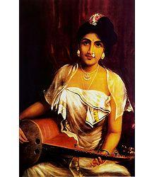 Lady Playing Veena