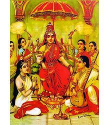 Ambika - Raja Ravi Varma Reprint on Paper