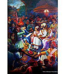 Darbar of Chhatrapati Shivaji Maharaj - Raja Ravi Varma Reprint