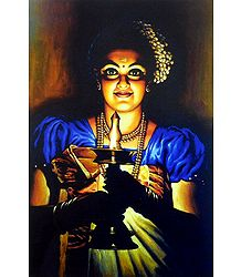 Lady with a Lamp - Kerala Style