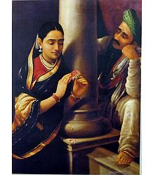 Raja Ravi Varma Painting Reprint on Paper
