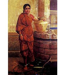A Maharashtrian Lady Near the Well
