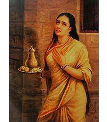 Sairindhri - Raja Ravi Varma Painting Reprint
