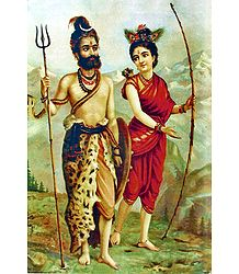 Shiva and Parvati in Hunter's Disguise