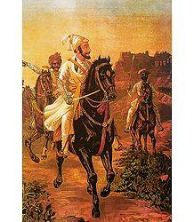 Shivaji Maharaj - Raja Ravi Varma Reprint