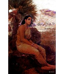 Sita Vanavasa - Reprint of Raja Ravi Varma Paintings