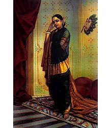 Vasantasena - Raja Ravi Varma Poster