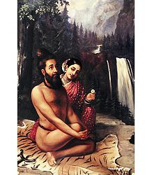 Vishvamitra with Menaka - Poster