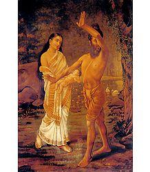 Vishwamitra with Menaka